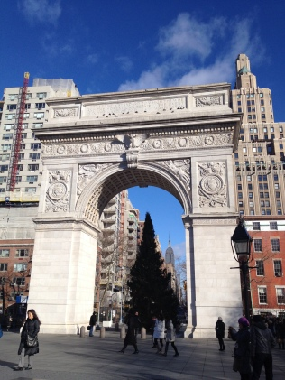 The arch honoring George Washington at Washington Square Park.