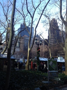 Bryant Park all decorated for Christmas!