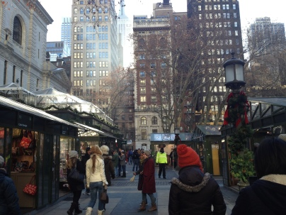 Lots of cute shops and such in Bryant Park, located right behind the New York Public Library.