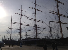 One of the historical ships docked at the Seaport.