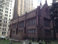 Trinity Church was constructed in 1698. But this current church is the third construction built in 1846.
