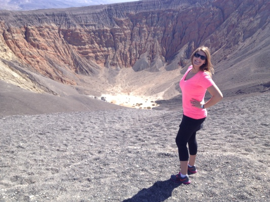 Just me and a crater in the hottest place on Earth!