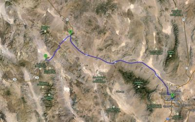 Las Vegas to Death Valley Map