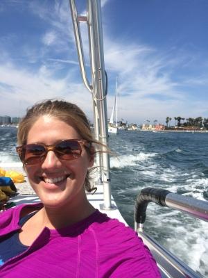 Kayla on the boat