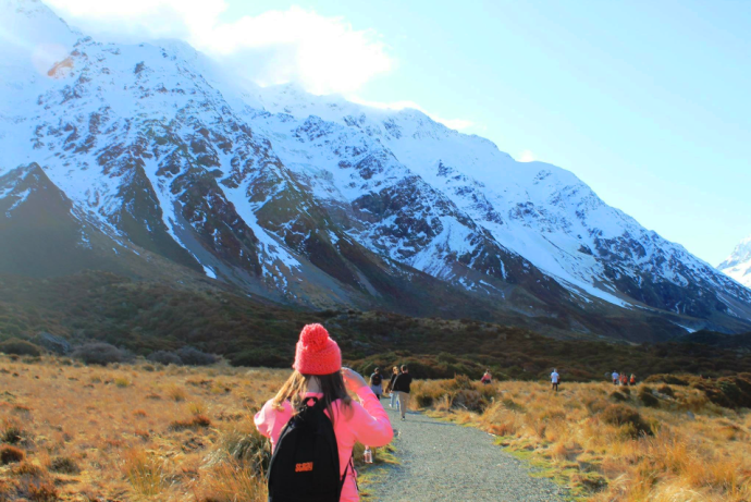 Kayla in Mount Cook